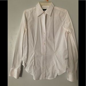 The Limited white fitted long sleeve shirt size M